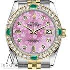 Rolex Women's Rolex 31mm Datejust 2tone Pink Flower...
