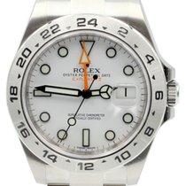 Rolex Explorer II 216570 White 42mm GMT Steve McQueen Stainles...