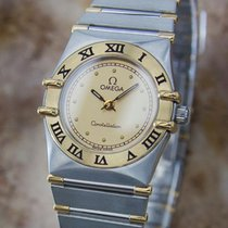 Omega Constellation Ladies Swiss Made 18k Gold And Stainless...