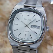 Bulova Day Date Stainless Steel Swiss Made Men's Automatic...