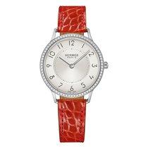 Hermès Slim d Silver Dial Ladies Diamond Watch