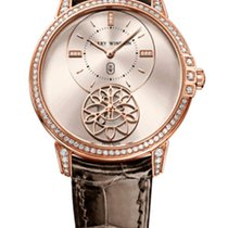 Harry Winston Midnight Diamond Second 18K Rose Gold &...