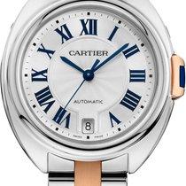 Cartier CLÉ DE CARTIER AUTOMATIC 35mm oro rosa/acciaio W2CL0003 T
