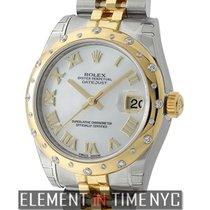 Rolex Datejust Steel & Yellow Gold 31mm Diamond Bezel...