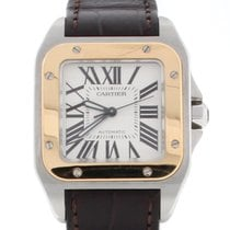 Cartier Santos 100 Midsize 2-Tone 18K Rose Gold/Steel Watch...