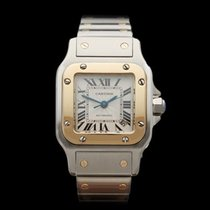 Cartier Santos 18k Yellow Gold/Stainless Steel Ladies W20057C4