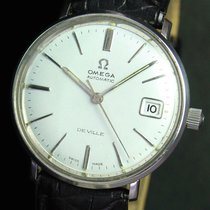Omega Deville Automatic Date Steel Mens Watch 166.033