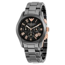 Armani Ceramica Chronograph Black Dial Mens Watch AR1410
