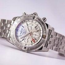 Breitling Chronomat 44 GMT Stainless Steel Silver Dial