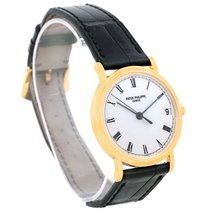 Patek Philippe Calatrava 18k Yellow Gold Hobnail Bezel Watch 3802