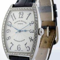 Franck Muller Mens Curvex 18k White Gold & Diamonds...