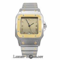 Cartier Mint Unisex   Santos Galbee 1566 Quartz Steel &...