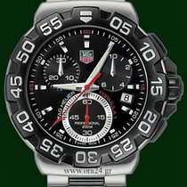 TAG Heuer FORMULA 1 Chronograph 41mm Black Dial Stainless Steel