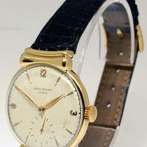Patek Philippe 1585 Vintage 18k Yellow Gold Mens Windup Watch...