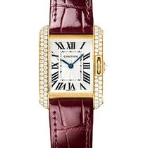 Cartier WT100013 Tank Anglaise Small with Diamond Bezel in...