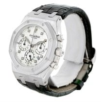 Audemars Piguet Royal Oak White Gold Chrono Watch 26022bc.oo.d...