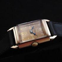 Omega Rare Rectangular Vintage 18k Gold 40's
