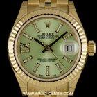 Rolex 18k Y/G Unworn O/P Linden Dial Datejust Ladies B&P...