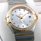 Omega Mens TT 35mm Constellation Co-Axial Diamonds Box &...
