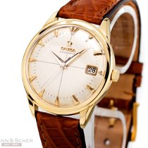 Omega Gentlemans Watch Automatic Ref-2982 18k Yellow Gold Bj-1960