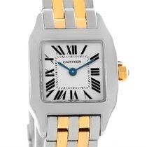 Cartier Santos Demoiselle Steel Yellow Gold Watch W25066z6 Box...