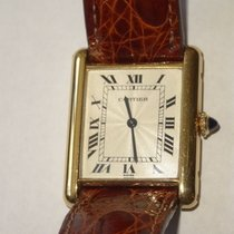 Cartier Tank Louis 18K Gold Watch Roman Dial w Box &...