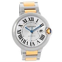 Cartier Ballon Bleu Steel Yellow Gold Automatic Mens Watch...