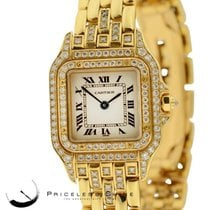 Cartier Panther Solid 18k Yellow Gold W/ Custom Diamond...