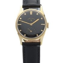 Elgin Pre-Owned Mid-Size Watch - 14k Gold Case- Black Dial...