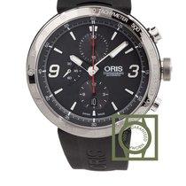 Oris TT1 Chronograph 45mm Grey Dial Rubber Strap NEW