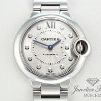 Cartier Ballon Bleu Medium 33 mm Edelstahl Diamanten Automatik