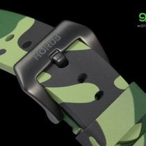 Panerai Strap For  - Horus Green Camouflage Rubber Straps With...