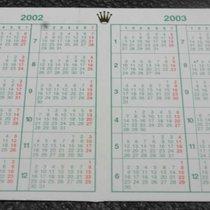 Rolex original vintage calendar 2002 - 2003