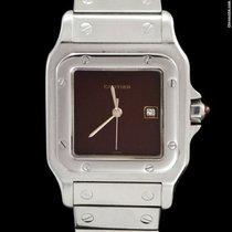 Cartier SANTOS GALBEE BURGUNDY DIAL