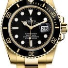 Rolex Submariner Black Index Dial 18k Yellow Gold 116618LN
