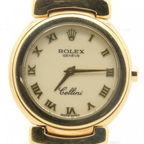 Rolex Cellini 6621 Solid 18k Yellow Gold Creme Dial Quartz N...