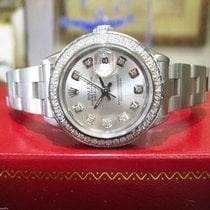 Rolex Oyster Perpetual Datejust Diamond Dial And Bezel Silver...