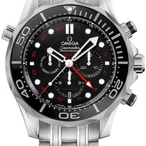 Omega Seamaster Diver 300m Co-Axial GMT Chronograph 44mm...