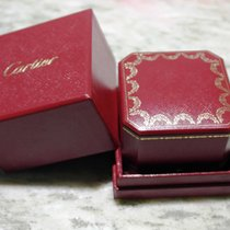 Cartier vintage red leather ring  box  newoldstock