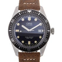 Oris Divers Sixty-Five 42 Date Brown Leather