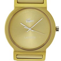 Lacoste Tokyo Womens Fashion Watch Gold Tone Dial Silicon...