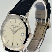 Patek Philippe Calatrava 18k White Gold Mens Watch & Box...