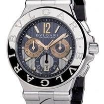 Bulgari Diagono Steel Watch Chronograph Grey Dial 42mm