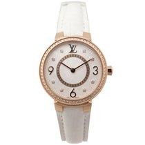Louis Vuitton tambour monogram q12mr 28mm en or diamant watch