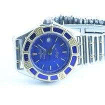 Breitling Lady J Damen Uhr + Gold Lünette + Top Zustand Blau...