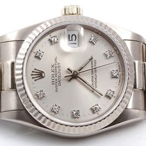 Rolex Midsize 18K White Gold President - Factory Silver...