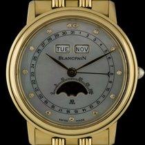 Blancpain 18k Y/G MOP Diamond Dial Triple Calendar Moonphase...
