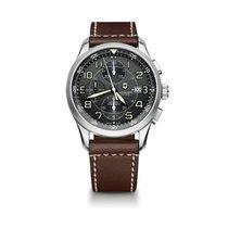 Victorinox Swiss Army Airboss cronograph, grey dial, cowskin...