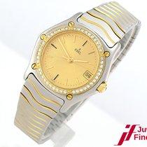 "Ebel ""Classic Lady""  Stahl/750 Gelbgold - Diamantlünet..."