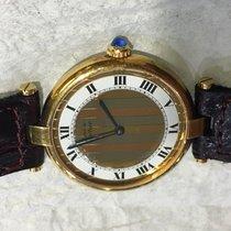 Cartier Vermeil Vendome Quartz Watch With Tri-gold Dial